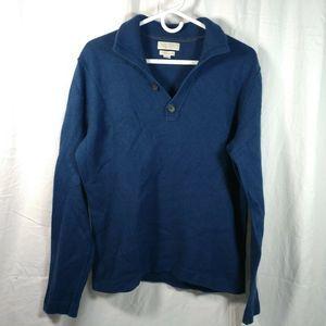 Banana Republic M collar sweater blue cashmere